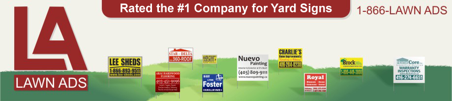 yard signs and job site signs for roofers, contractors, plumbers, politicians and landscapers