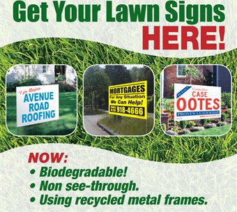 Lawn Ads GOOD Sign