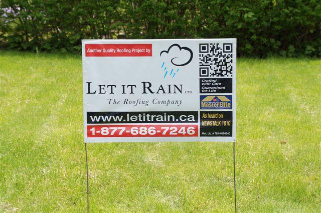 Let It Rain Lawn Sign